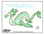 Inktober 2017 - Dragons - Underwater