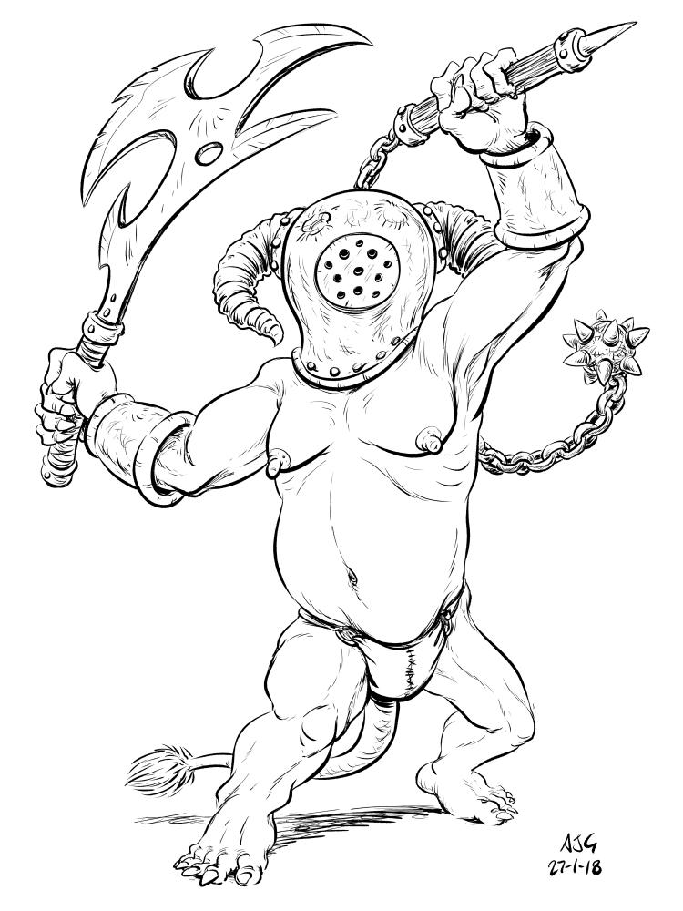 Goblin Week: Proloxbolog by FavouriteCrayon