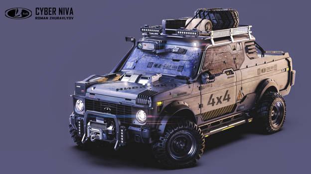 Cyberpunk Lada Niva 4x4/2077