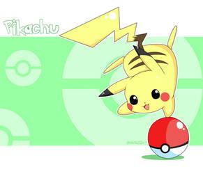 Pokemon - Pikachu's Pokeball by iSpaz247