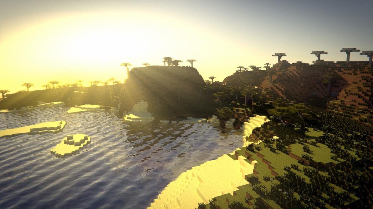 Minecraft: Evening Bay by SupahPOW31