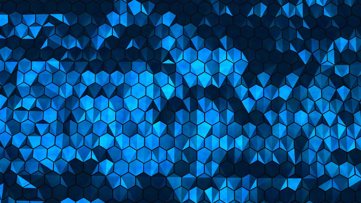 Blue Hexagons by SupahPOW31