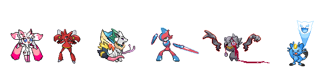 My top six fav pokefusions by Blueart14