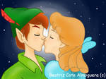 Peter pan and Wendy Kiss