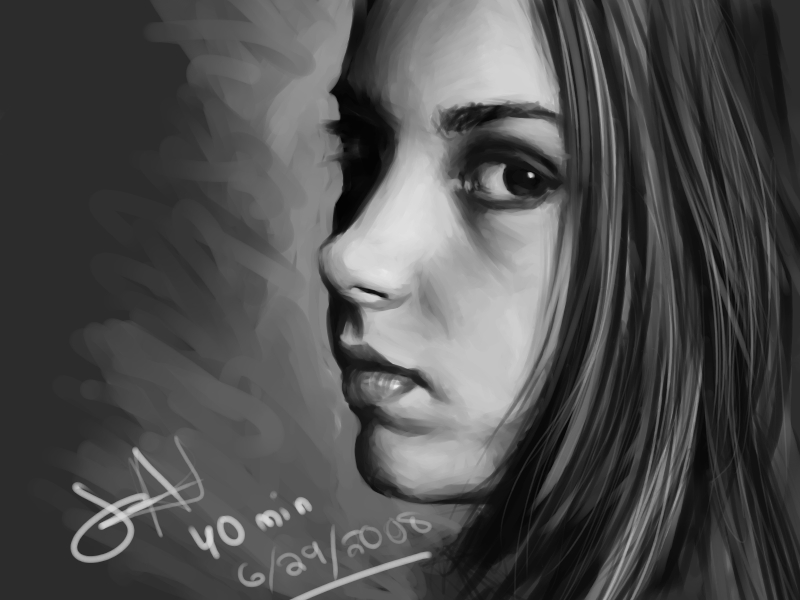 Speed Painting 001 by Gravija-Sunrise