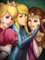Girls of Super Smash Bros. by Gravija-Sunrise