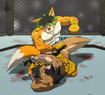 A Viscous Ground and Pound~