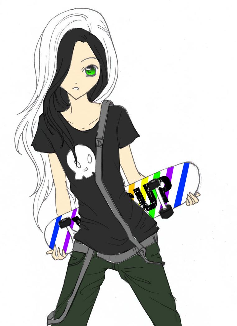 skater girl by rukia20