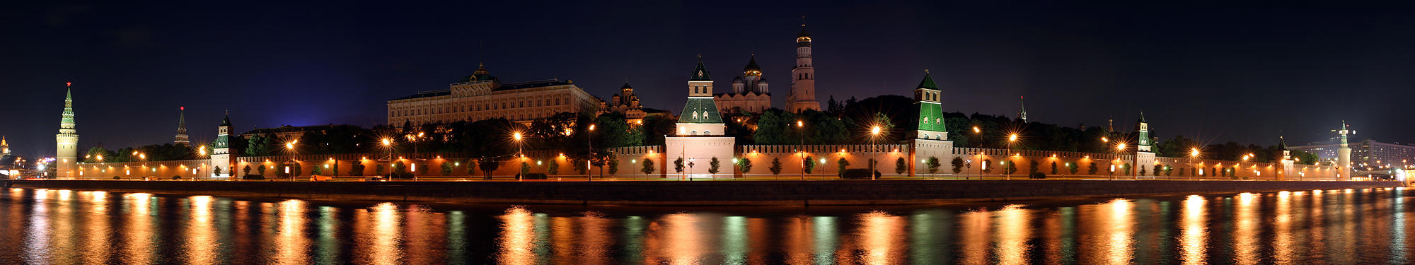 Panorama of Moscow Cremlin