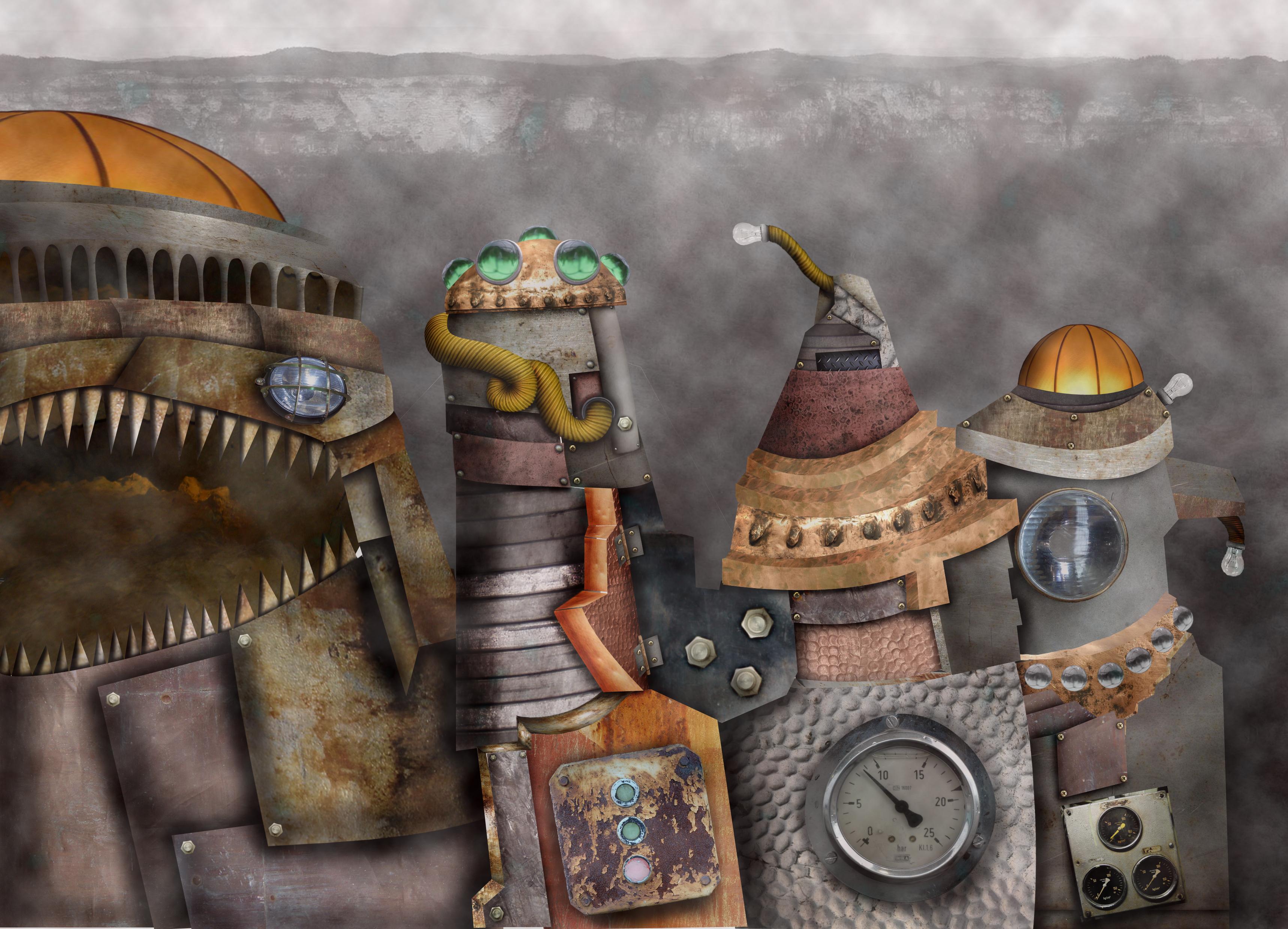 My futurist digital painting by TofuXpress