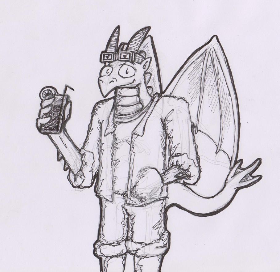 Zephyr the Dragon sketchysketch by TofuXpress