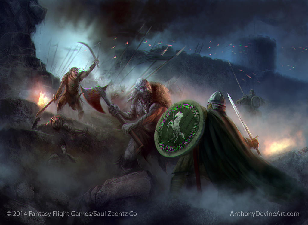 LOTR The Wall is Breached by AnthonyDevine