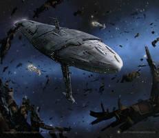 Star Wars- Mon Calamari Exodus Fleet by AnthonyDevine