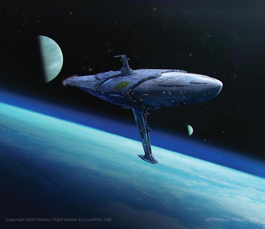 Star Wars- Armored Cruiser by AnthonyDevine