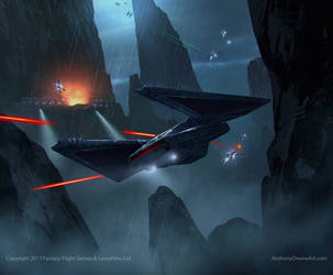 Star Wars- TIE Reaper- Captain Feroph by AnthonyDevine