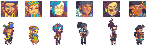 Character Portraits by RHLPixels