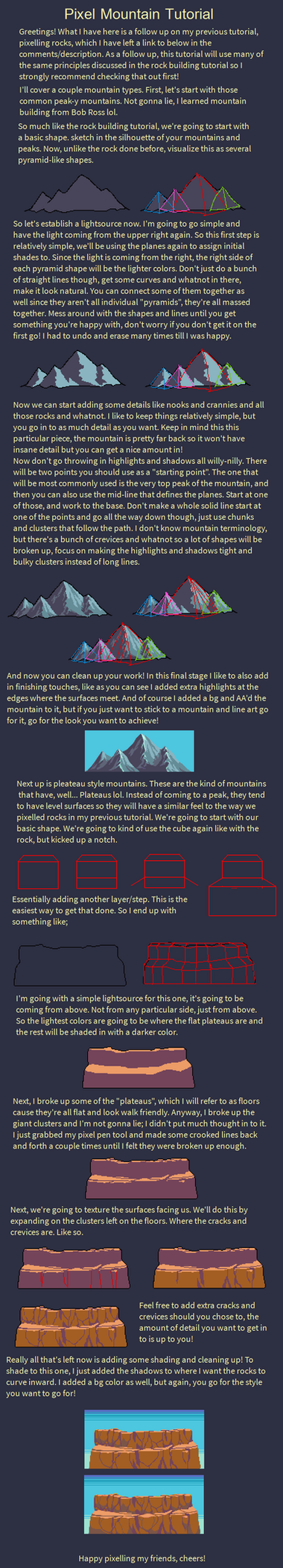 Mountain Tutorial by RHLPixels