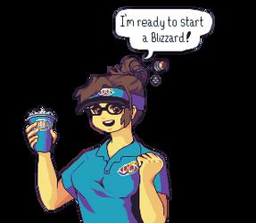 Mei is ready to start a blizzard! by RHLPixels