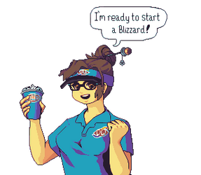 Mei is ready to start a blizzard! by RHLPixels
