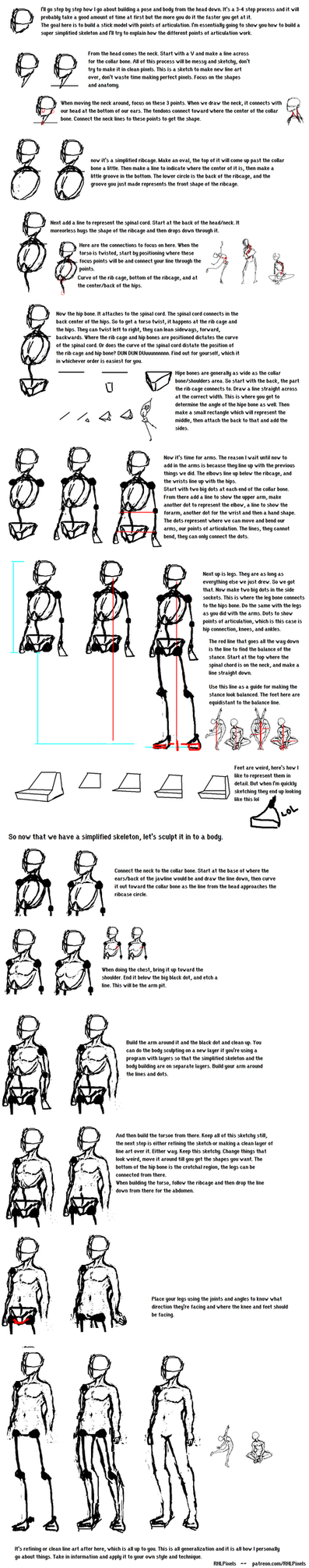 Pose and Body Building for the Beginner Artist by RHLPixels