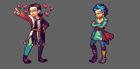 Dragon Quest XI Sylvando and Erik