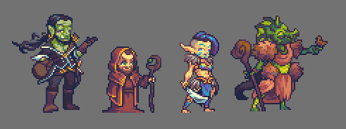 Unconventional DnD Character Commissions by RHLPixels