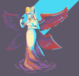 Winged Lady by RHLPixels