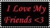 Stamp-I Love My Friends by FloxMelaina
