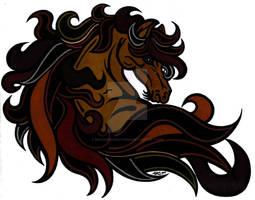 Horseheadtattoocolor