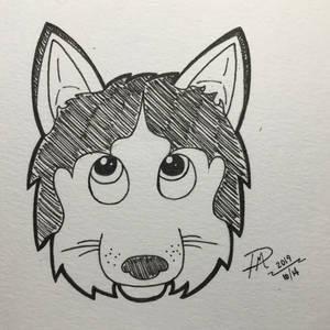 Inktober - Day 7: Husky