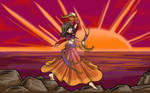 Anime Gypsy at Sunset
