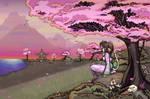 Anime Catgirl Pink Kimono