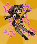 Anime Girl Rock Star Art