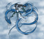 Fantasy Art [ In Flight ] Fae and Dragon Spirits