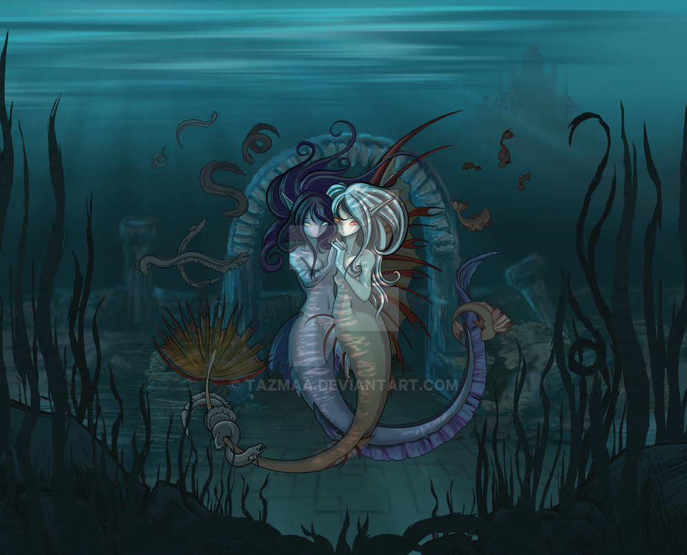 Anime/Fantasy style Mermaids by Tazmaa
