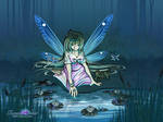 Water Fae Spirit Fantasy / Anime Style Fairy