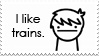 I Like Trains -stamp- by I-Am-The-Lawr