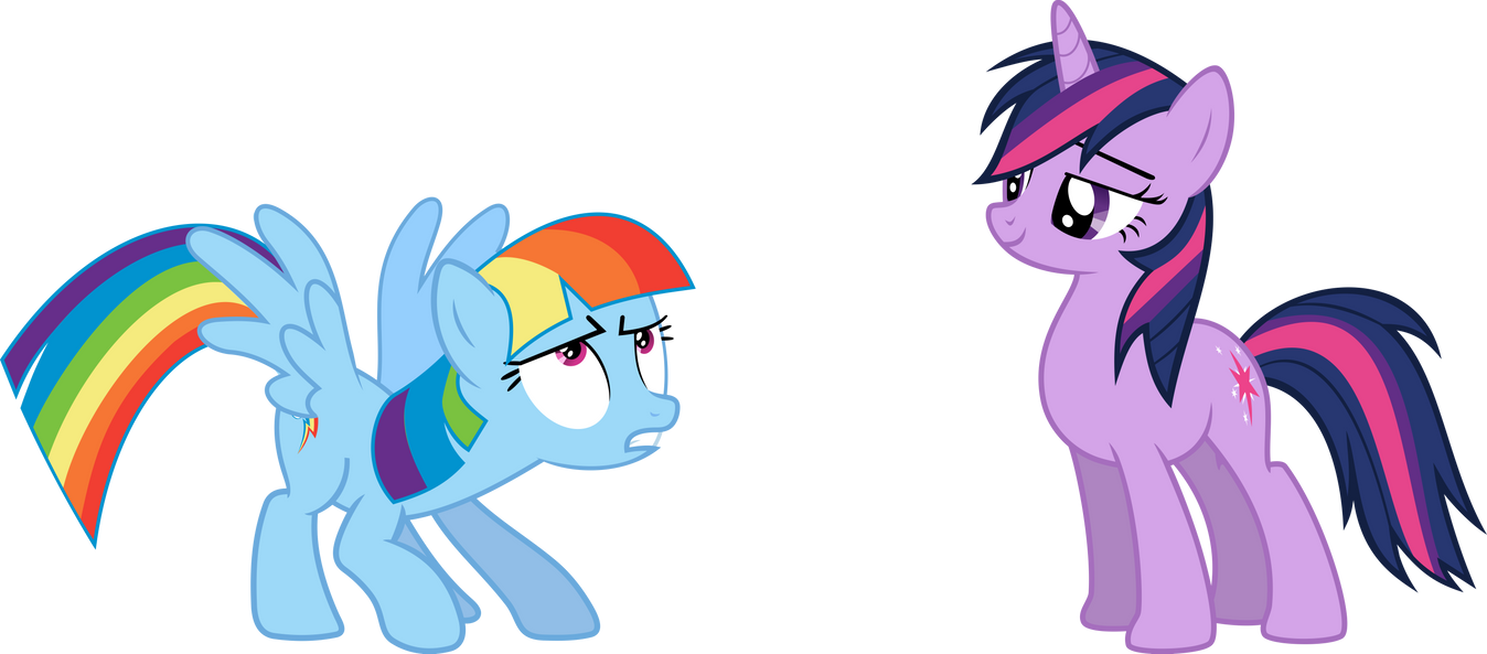 Rainbow Dash And Twilight Mane swapped By Rolin11 On