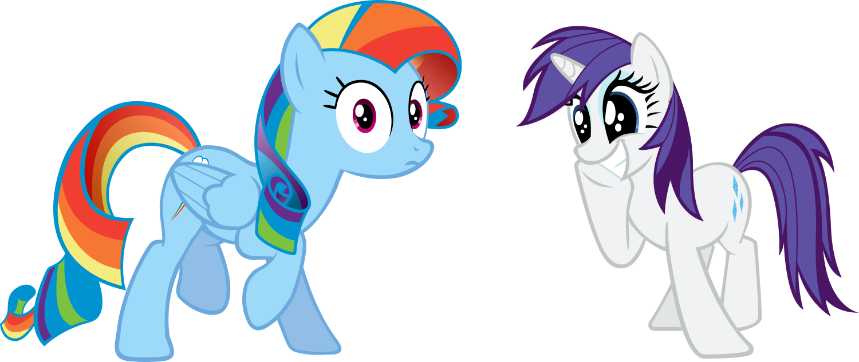 Rainbow Dash Kissing Rarity Rainbow Dash And Rarity by