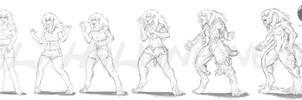 Luna's tf Werewolf Concept by alfaluna