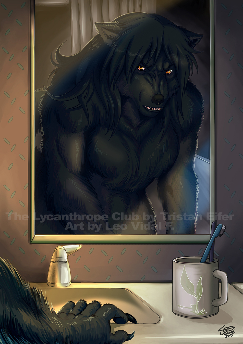 Night Time - The Lycanthrope C Book 2 Illustration by alfaluna