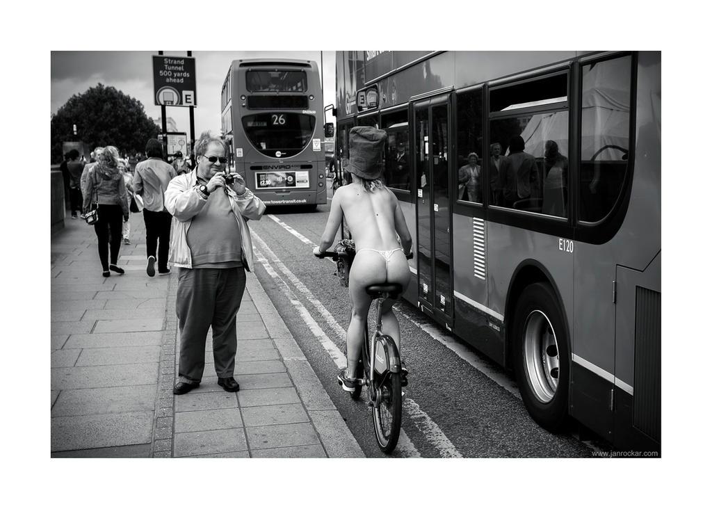 World Naked Bike Ride - spectator by lightdrafter