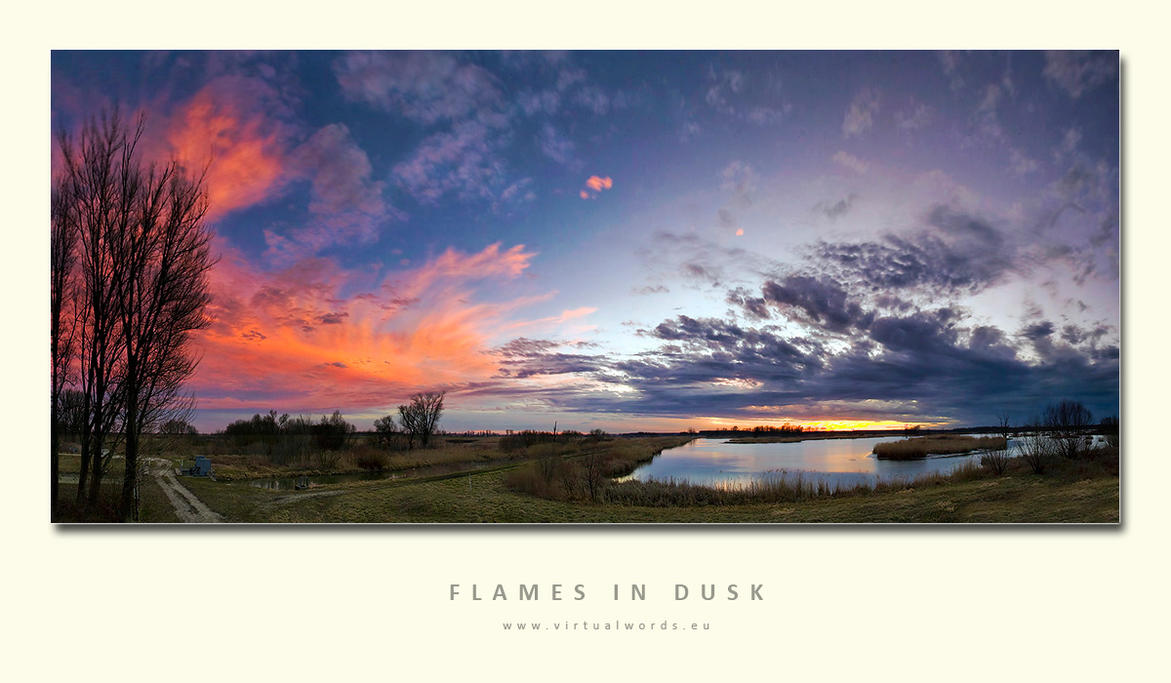 Flames in Dusk by VirtualWords