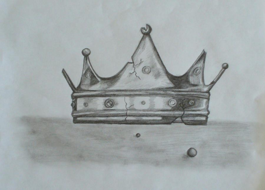 Crown Drawing Crown Drawing by Juliablue
