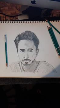 Portrait drawings: robert downy jr