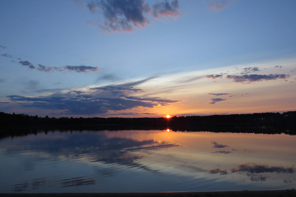 A Classic Crystal Lake Sunset by SilverfoxFayre