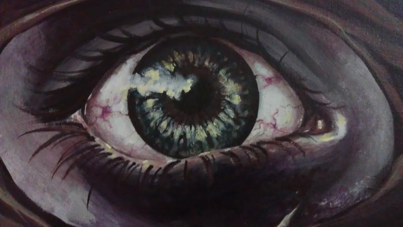 Zombie Eye by RaynaCendre