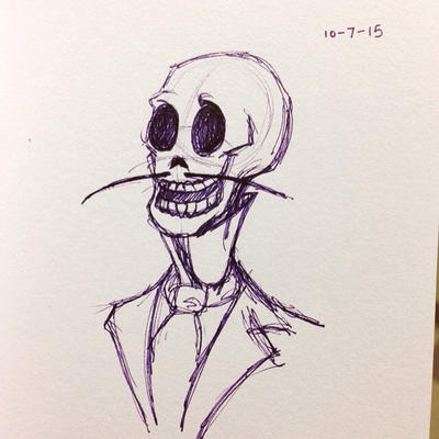 Inktober 7- Corpse Bride Skeleton by TangerineVampire