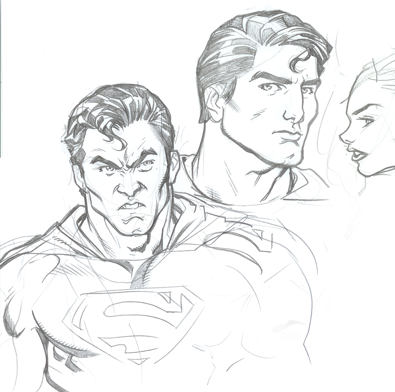Superman sketches by R...
