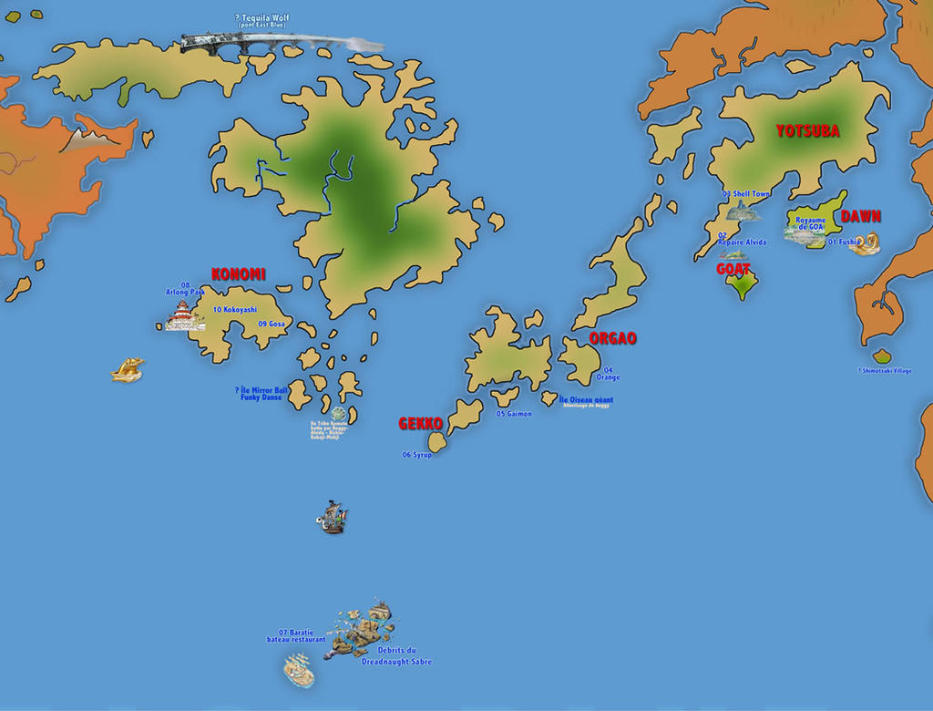 All Blue Map One Piece New World Shinsekai By KiwiK On DeviantArt - World map la
